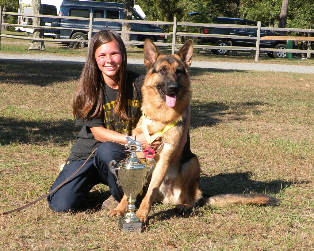 SG 2 Cai vom Airmont with owner Kristi!